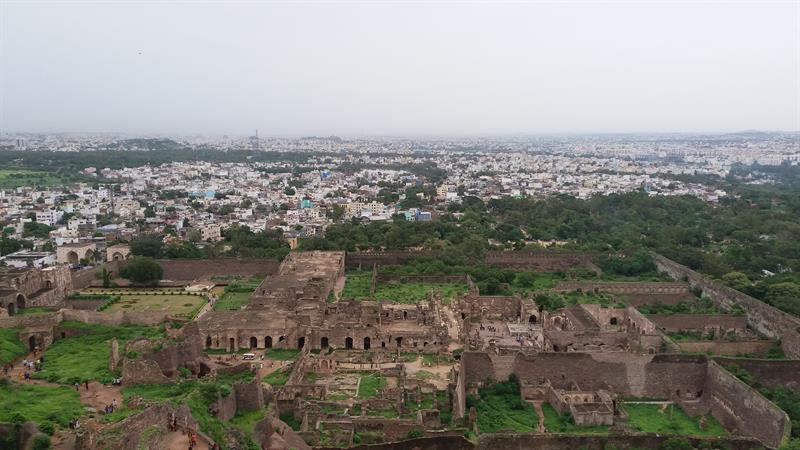 Hyderabad city overview from Golconda Fort