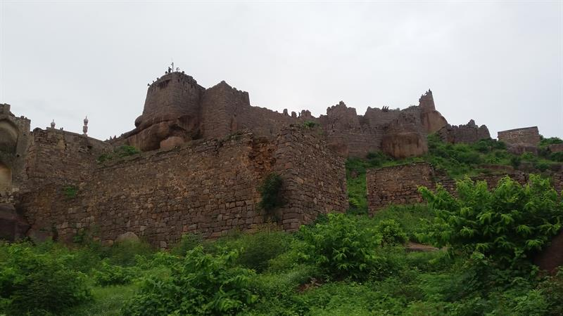 Front View of Golconda Fort, Hyderabad