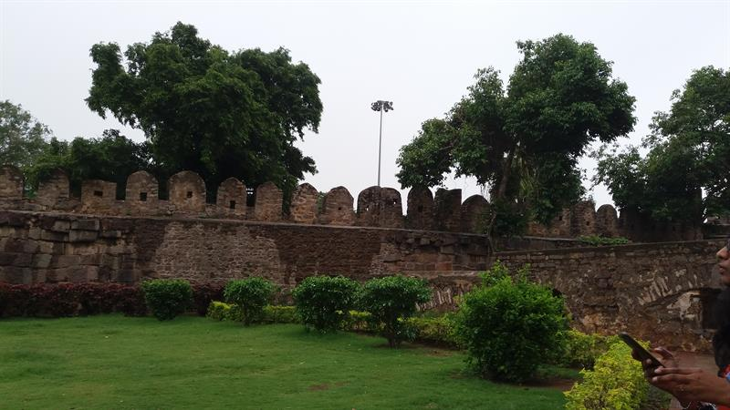 Walls of Golconda Fort,Hyderabad