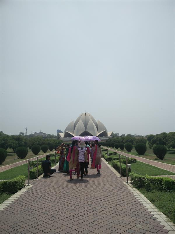 The Lotus Temple, located in New Delhi, India