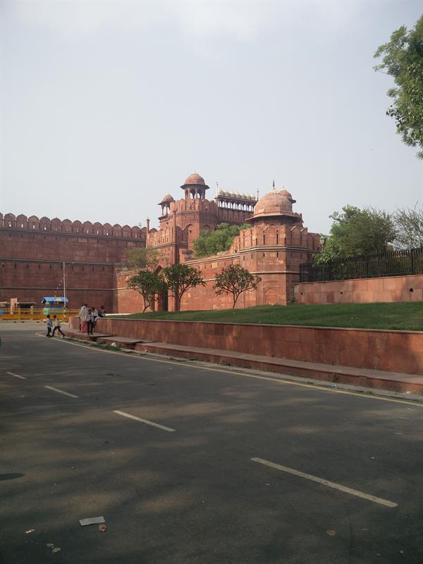 The Red Fort located in Delhi,India