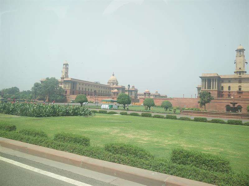 View of Rashtrapati Bhavan in New Delhi