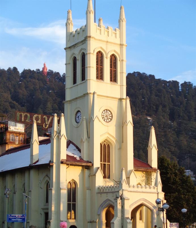 Church on mall road -shimla