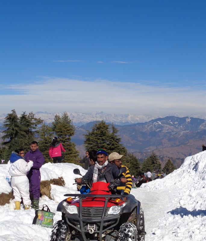 Snow scooter ride -kufri shimla