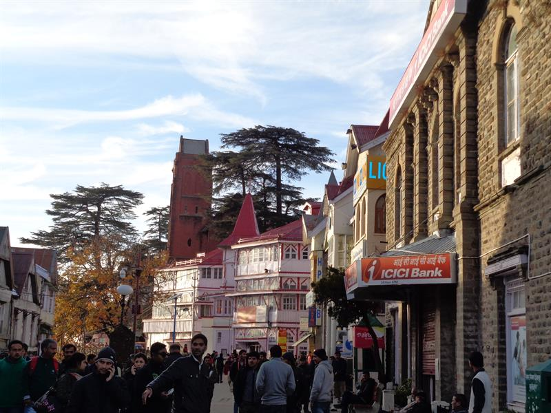 mall road- Shimla
