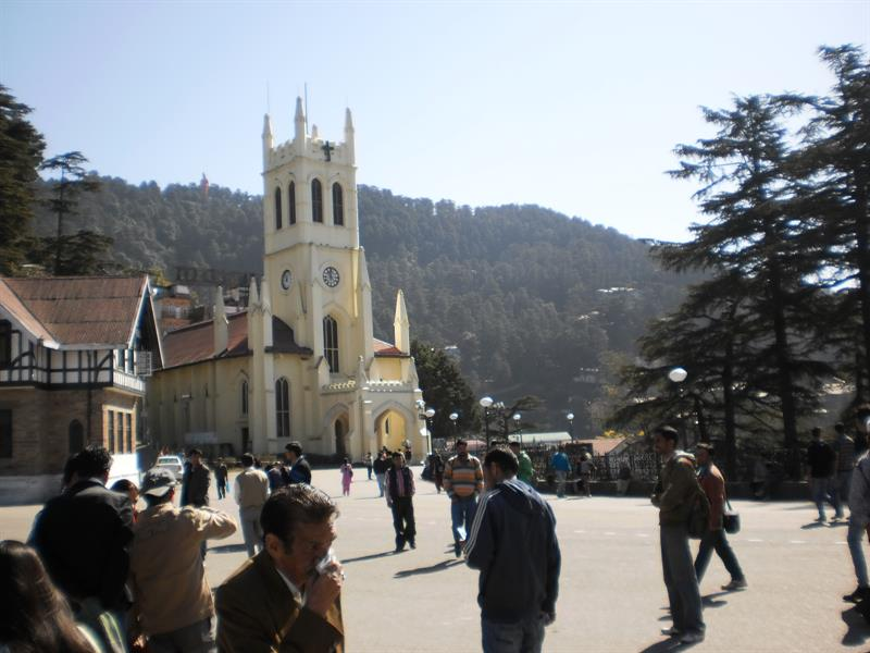 Church at mall road shimla