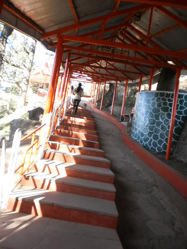 Stairs at hanuman temple shimla