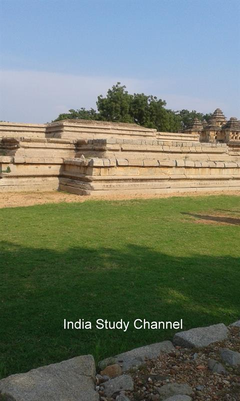 The plinth of the Queen's Palace,Hampi
