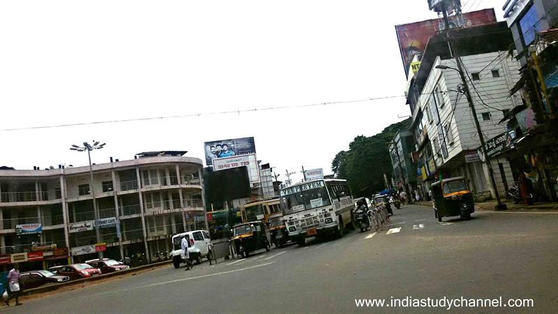 The main junction in Perinthalmanna.