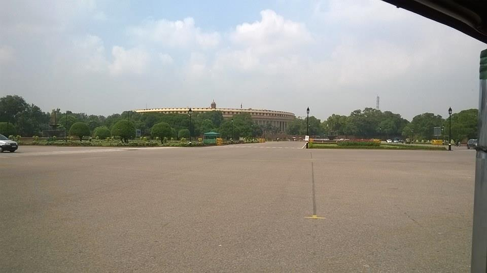 The Parliament House in Delhi