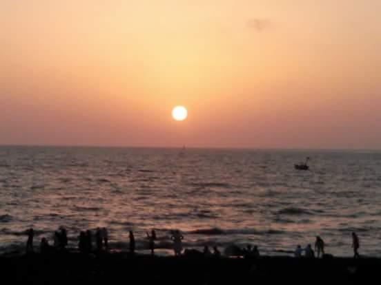 Beautiful sunset view in the Arabian Sea.