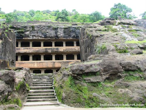 One of the Bhuddist Caves in Ellora