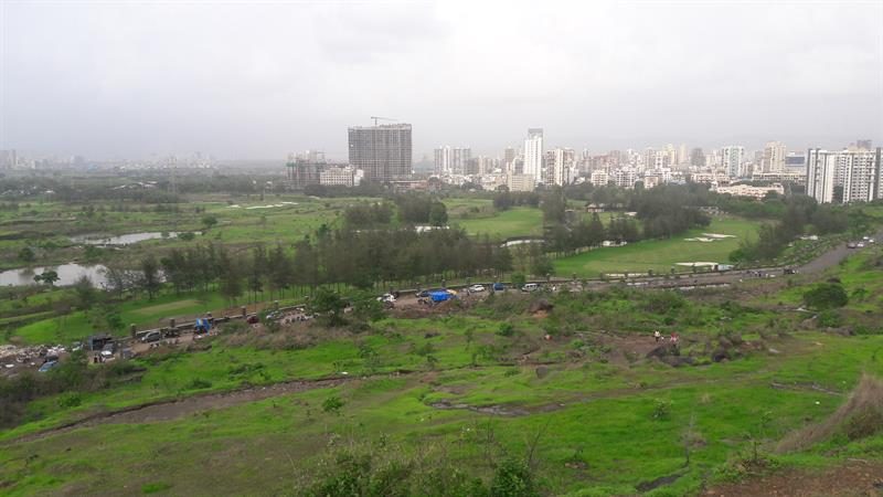 View of Kharghar town from Kharghar foot hills
