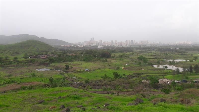 View of Northern part of Kharghar town from Kharghar foot hills