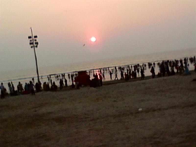 Juhu Beach just before Sun set time, Mumbai