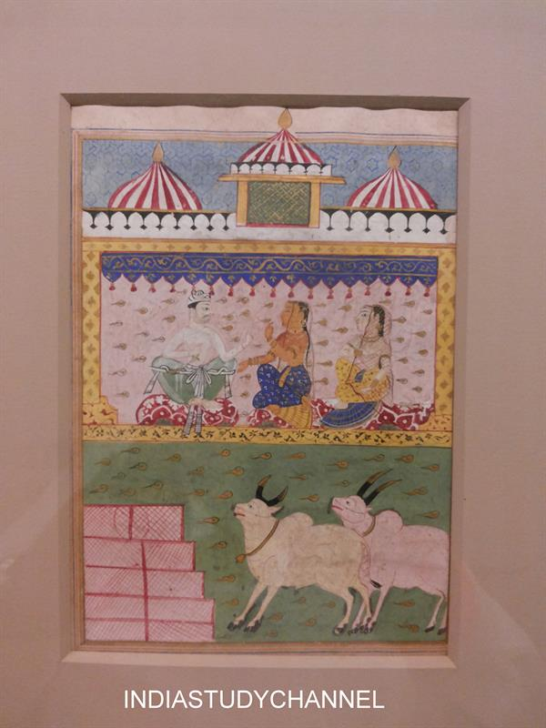 Western Indian style of Miniature painting (14th Century) as seen in Chhatrapati Shivaji Museum
