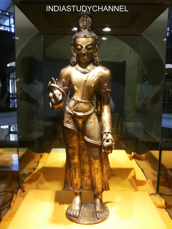 Maitreya (Future Buddha) of Nepal, 13th Century A.D. as seen in Chhatrapati Shivaji Museum, Mumbai