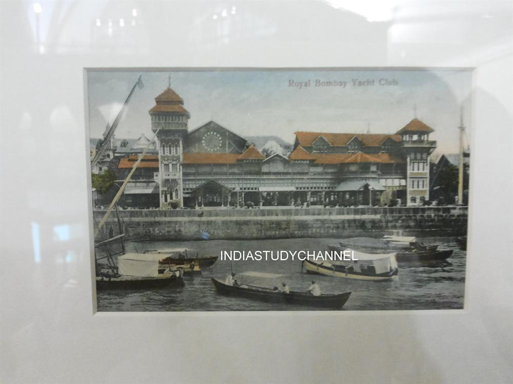 An old photograph of the Royal Yacht Club as seen in Chhatrapati Shivaji Museum, Mumbai