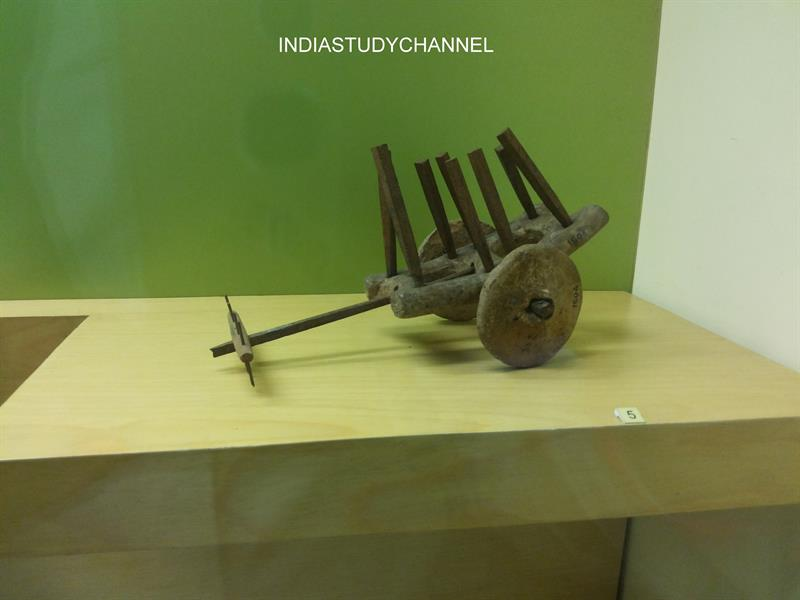 A Toy Cart excavated from Harappan site as seen in Chhatrapati Shivaji Museum, Mumbai