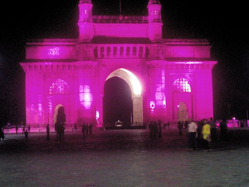 Awesome Gateway of India, Mumbai dressed in pink