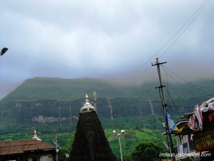 Gopuram of trimbakeshwar shiva temple in nashik