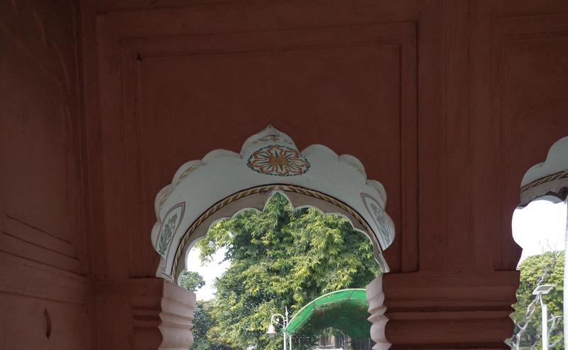 inner view of Pinjore garden monument