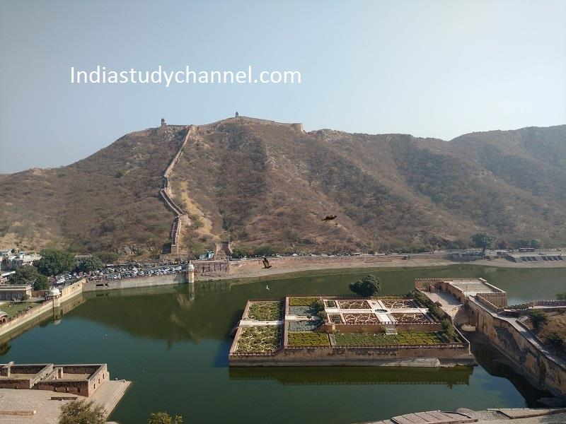 View from top of Aamer fort, Jaipur, Rajasthan
