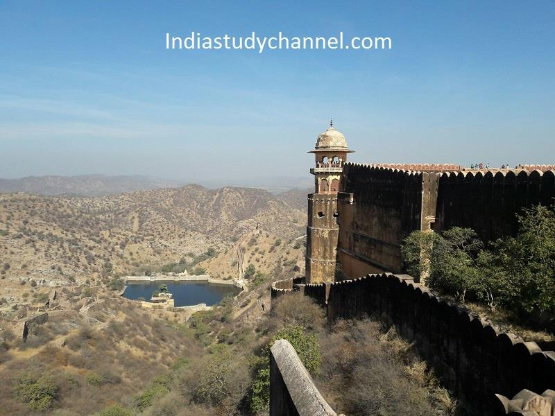 Top side view of Nahargarh fort, Jaipur
