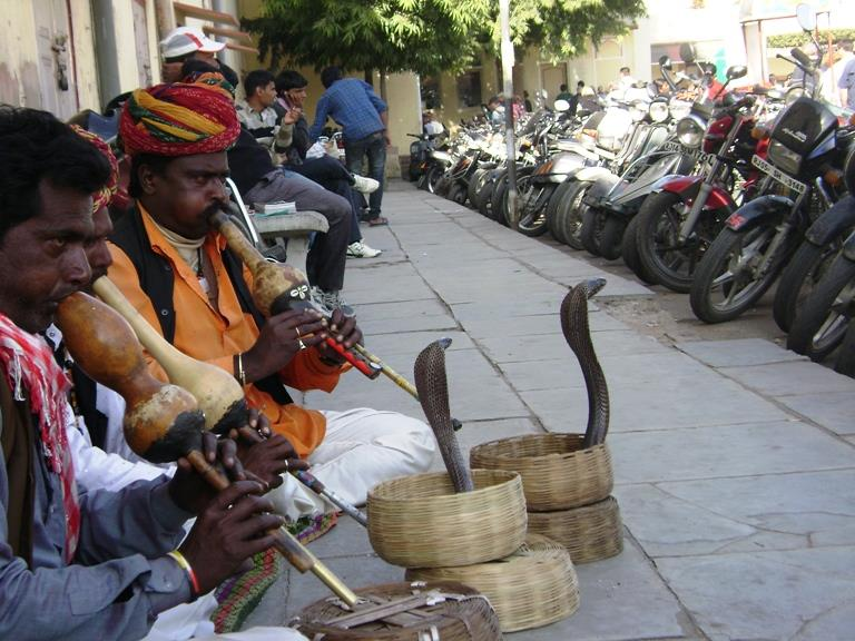 Snake Charmers in front of Jantar Mantar, Jaipur City