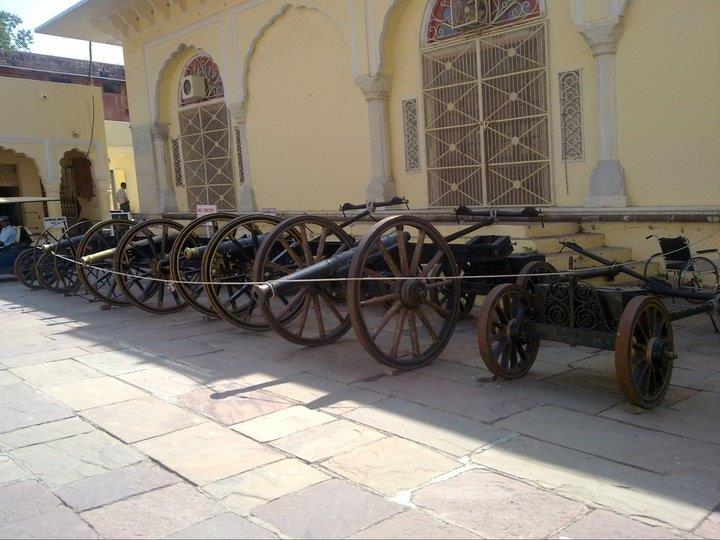 Vintage cannons at Jaipur museum
