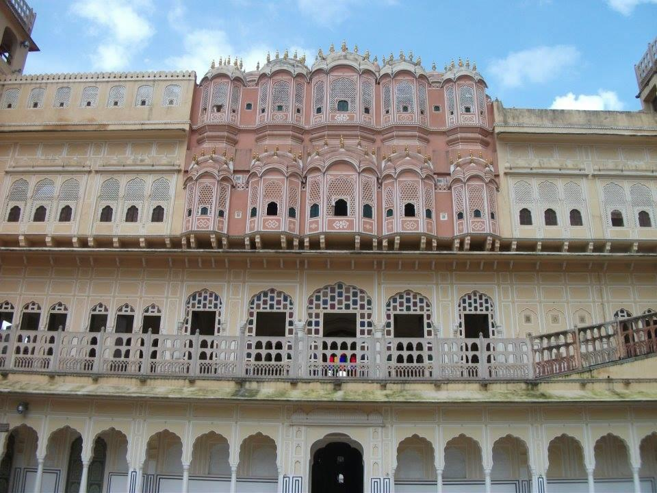 View of Hawa Mahal from inner courtyard