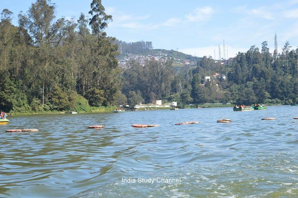 Ooty Lake in the Nilgiris district, Tamil Nadu