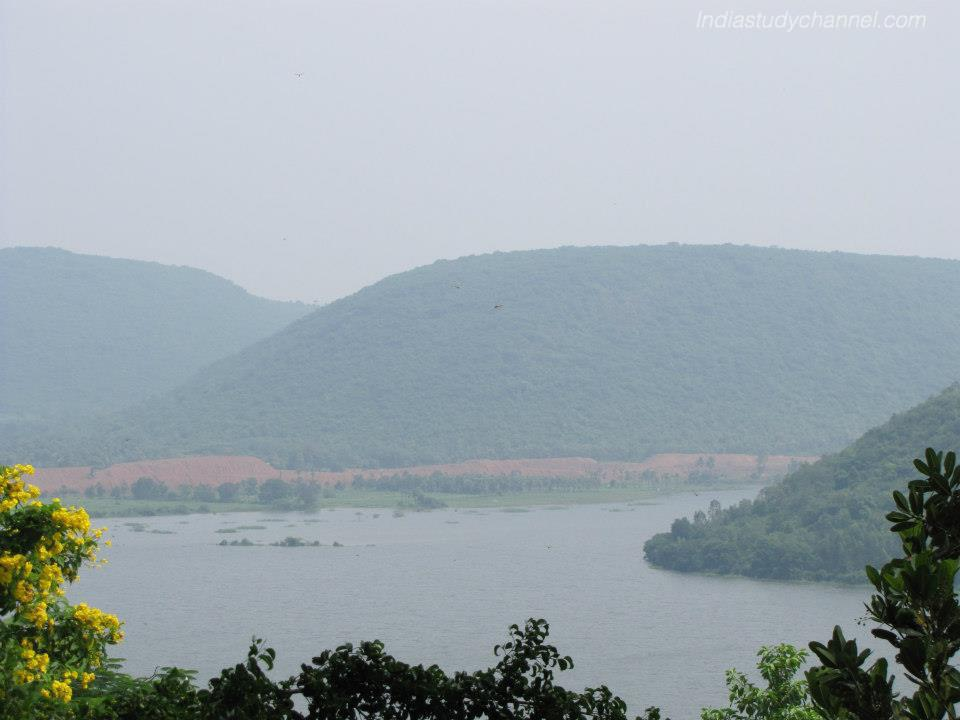 Beautiful picture of river Pampa in Annavaram Village