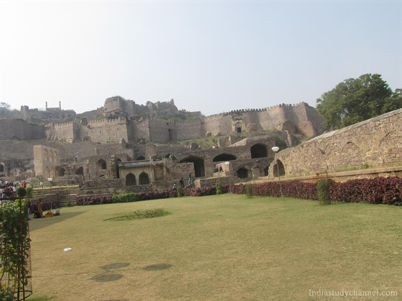 Complete view of Golconda Fort