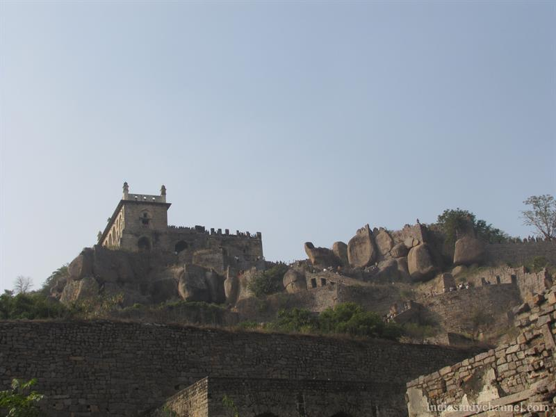 The Baradari at the top of the citadel, Golconda fort
