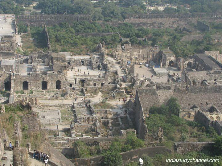 Golconda fort view from inside