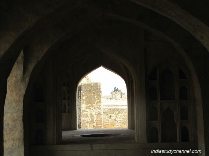 Stone arch in golconda fort