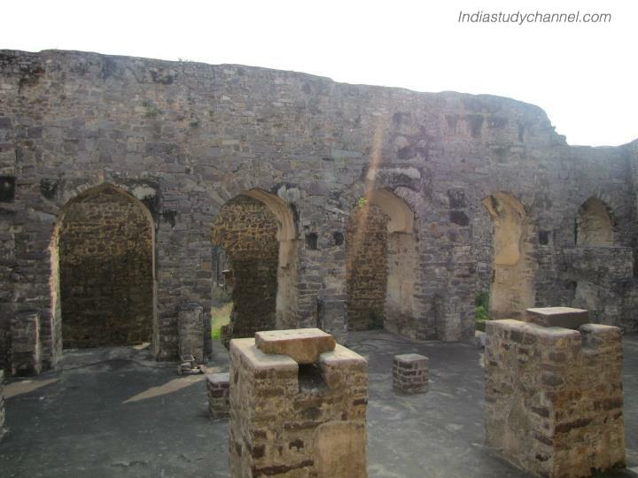 Inside view of golconda fort