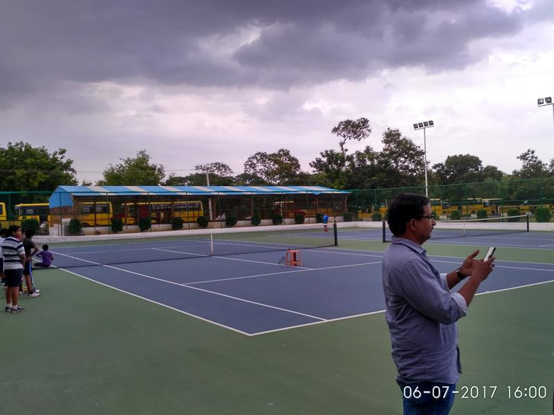 Synthetic Tennis Court in Loyola Public School, Loyolanagar, Guntur