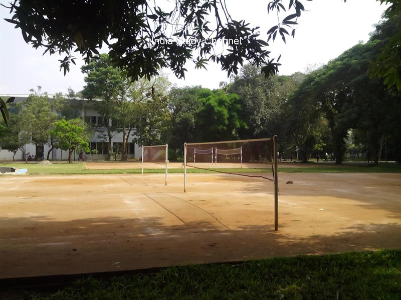 Throwball courts in KL University