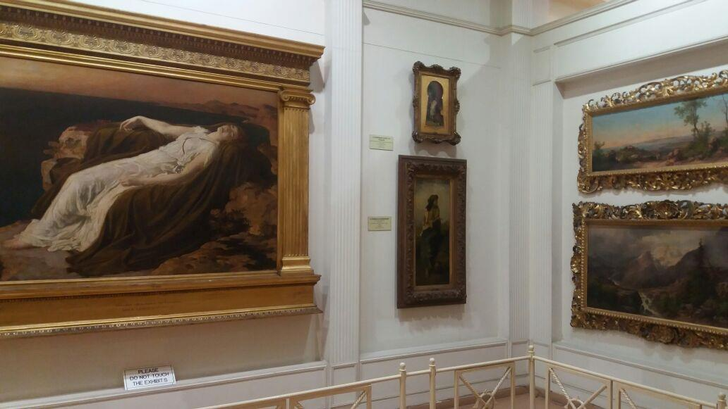 A view of painting Gallery as seen in Salar Jung Museum, Hyderabad