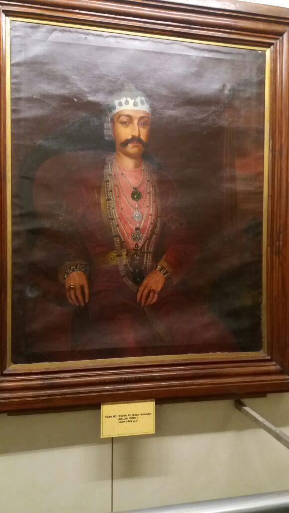 Mir Turab Ali Khan, Salar Jung I as seen in the Painting section of Salarjung Museum, Hyderabad