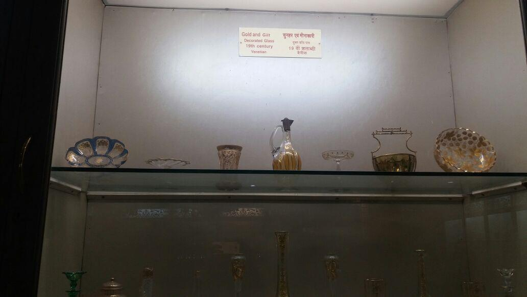Salar Jung Museum- Gold and Gilt decorated Glassware of 19th Century of Venice , Hyderabad