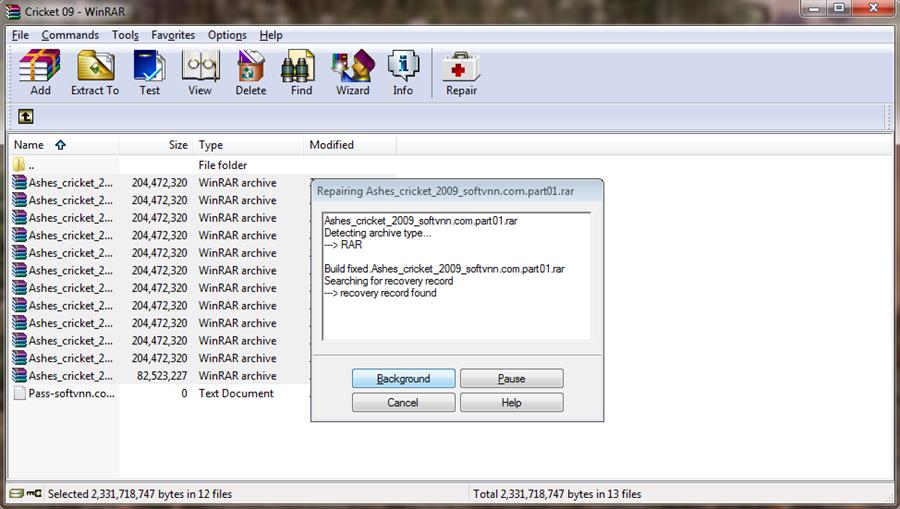 How to repair corrupted  rar or  zip files