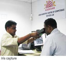 Eye iris scan
