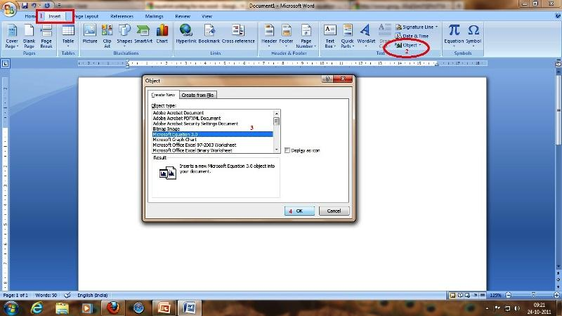 office 2013 microsoft equation 3.0