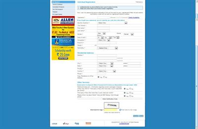 Individual Registration Form- IRCTC