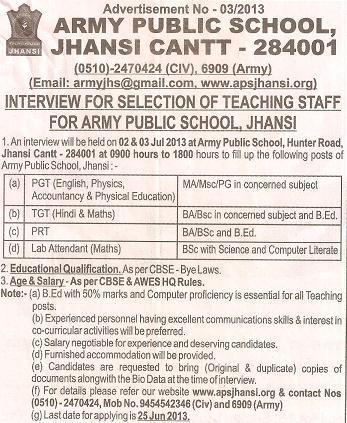 Jhansi cantt jobs
