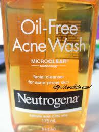 Neutrogena face wash.
