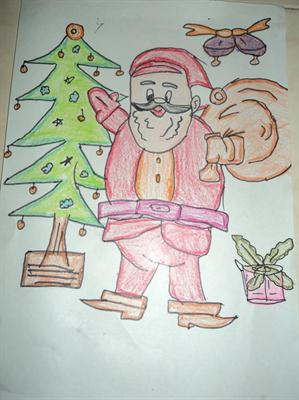 me and my santa claus drawing indiastudychannel com